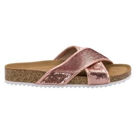 Kylie Pantofole rosa con paillettes