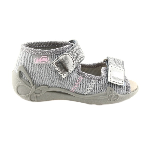 Scarpe da bambino Befado 342P002 argentate grigio