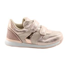 Sneakers rosa American Club ES25 oro