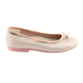 Ballerine con un fiocco rosa perla American Club GC14 / 19