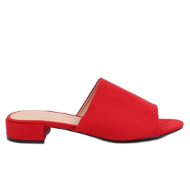Pantofole rosse da donna XW9093 Rosso