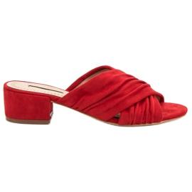Corina rosso Pantofole alla moda
