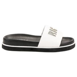 Vinceza Pantofole bianche bianco