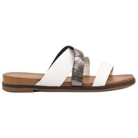 Vinceza Pantofole classiche bianco