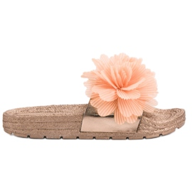 Seastar Pantofole arancioni con fiori