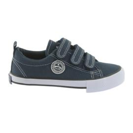 Sneakers in velcro American Club blu scuro