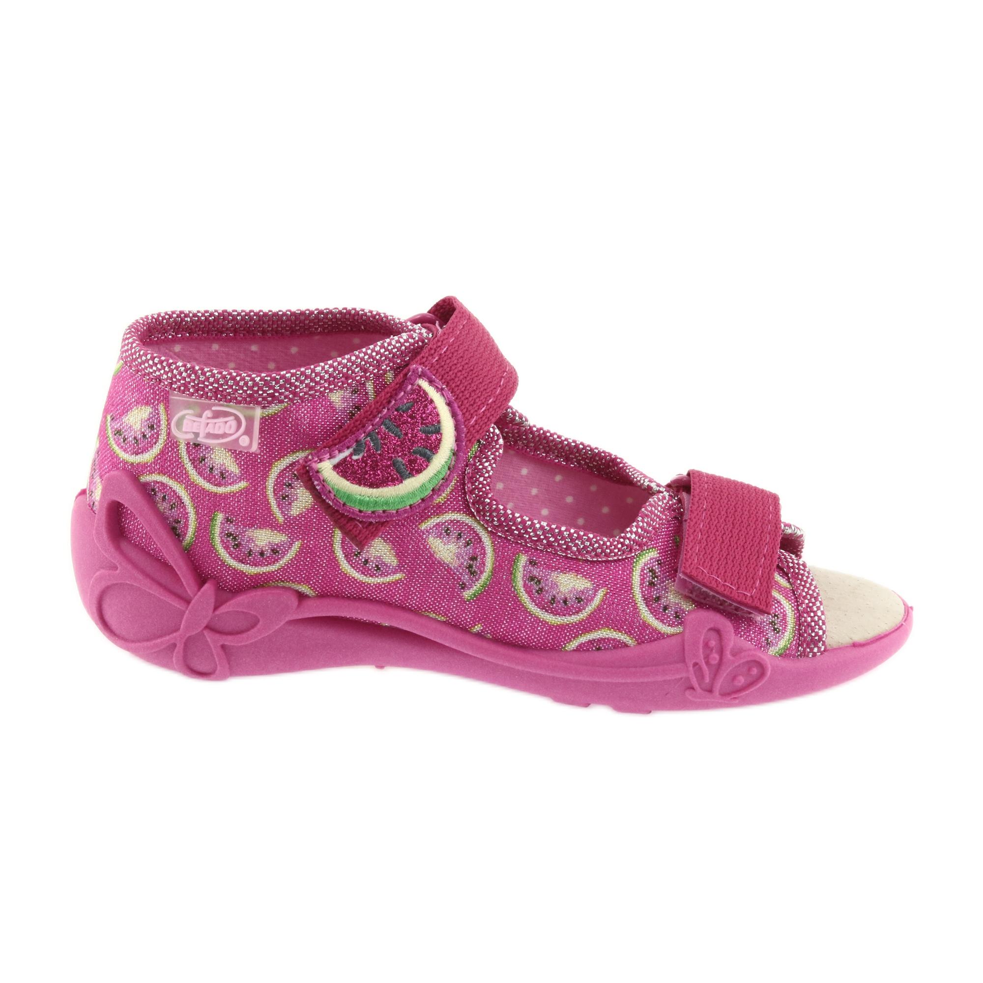 Sandali Befado scarpe da bambino 342P004 angurie grigio verde giallo rosa