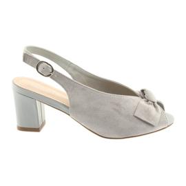 Sandalo in pelle scamosciata Sergio Leone 801 grigio