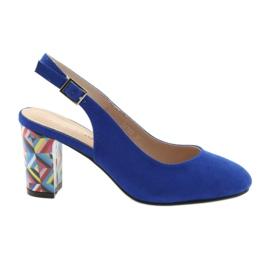 Sandali sul post di Sergio Leone 788 indigo mic blu