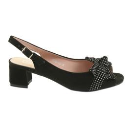 Filippo 788 sandali neri / puntini