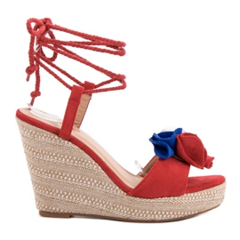 Seastar rosso Tied Sandals on Wedge
