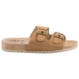 Kylie Pantofole marroni classiche marrone