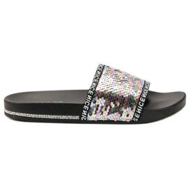 Seastar Flip Flops con paillettes grigio