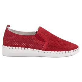 Filippo Sneakers in pelle Slip On rosso
