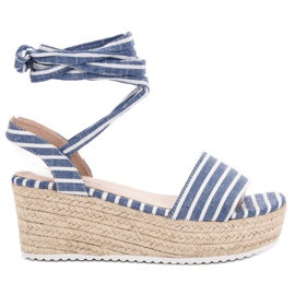 Seastar Sandali con cinture blu