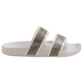 Seastar Pantofole bianche con cristalli
