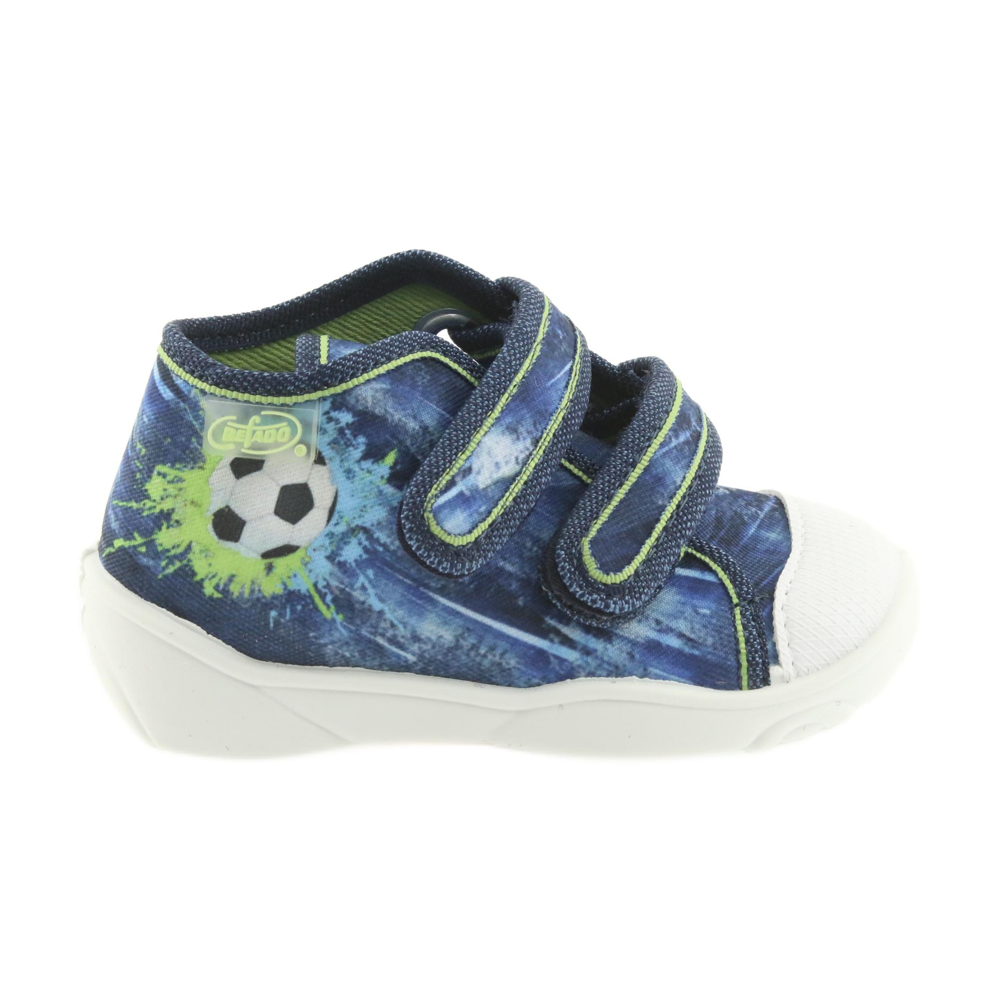 Scarpe da calcio per bambini Befado 212P058 blu verde marina