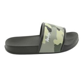 Pantofole camo profilate American Club green