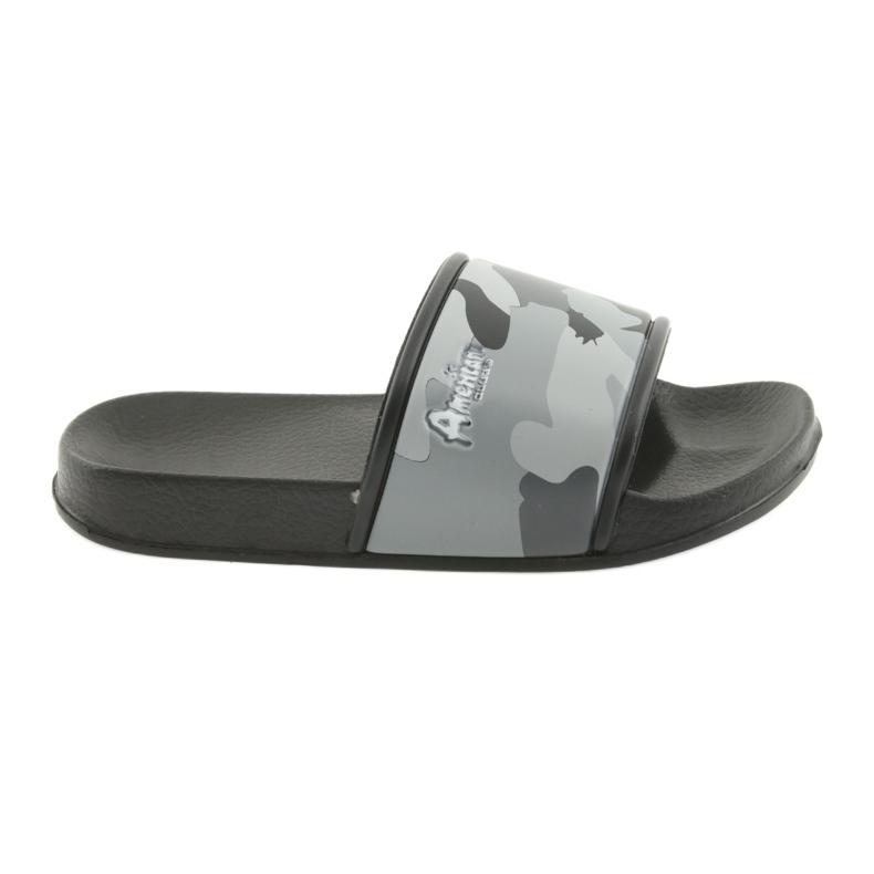Pantofole camo profilato American Club grigio