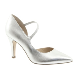 Scarpe con cinturino Caprice 24402 argento grigio