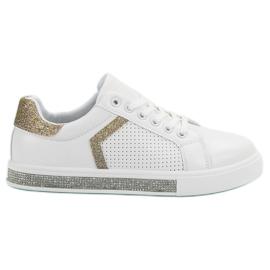 Ideal Shoes Scarpe sportive con zirconi bianco