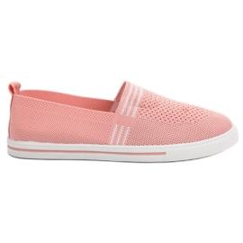 SHELOVET Sneakers in tessuto rosa