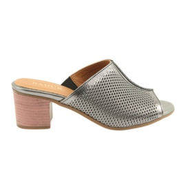 Pantofole da donna in argento Badura 5311 grigio