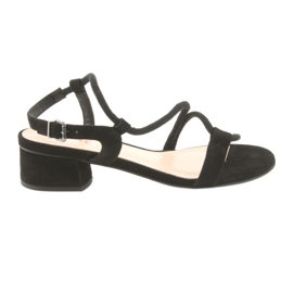 Nero Tacchi alti sandali neri Edeo 3386