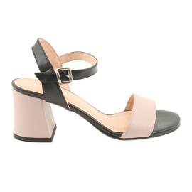 Sandali da donna Edeo 3339 polvere / nero
