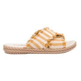 Seastar giallo Pantofole con cinture