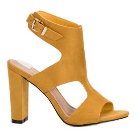 Ideal Shoes giallo Tacchi alti sexy