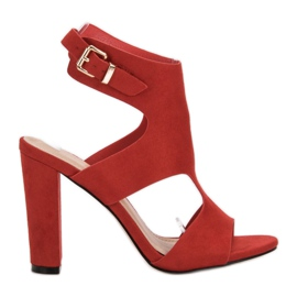 Ideal Shoes Tacchi alti sexy rosso