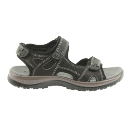 Sandali DK nero fondo velcro in EVA leggero