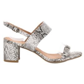 Ideal Shoes grigio Sandali da donna alla moda