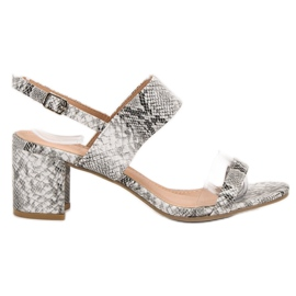 Ideal Shoes Sandali da donna alla moda grigio