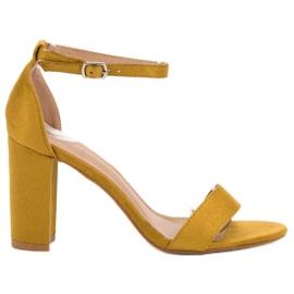 Anesia Paris giallo Sandali sexy senape
