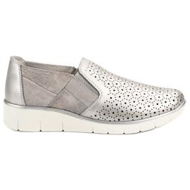 Filippo grigio Slip On Silver