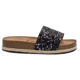 Goodin Pantofole moda donna nero