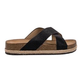 Goodin nero Comode pantofole nere