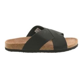 Pantofole profilate da uomo Big Star 174603 nere nero