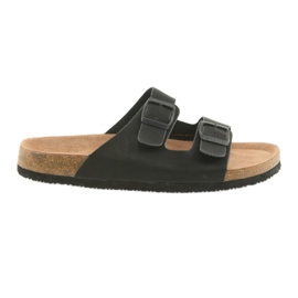 Pantofole profilate da uomo Big Star 174605 nere nero