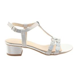 Sandali da donna strisce Gamis 3661 grigio perla