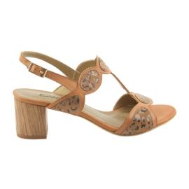 Sandali da donna toffee / pantera Anabelle 1352 marrone