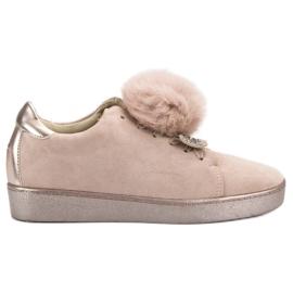 Lucky Shoes marrone Scarpe sportive in pelle scamosciata