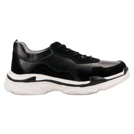 Goodin nero Sneakers in pelle nera