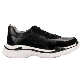 Goodin Sneakers in pelle nera nero