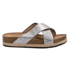 Goodin Comode pantofole d'argento grigio