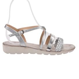 Kylie grigio Sandali d'argento sulla piattaforma