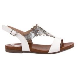 Kylie bianco Eleganti sandali piatti
