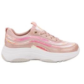 SHELOVET Scarpe da ginnastica sulla piattaforma rosa